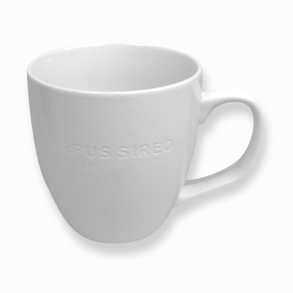 Kaffeebecher - weiß (6 Stück)