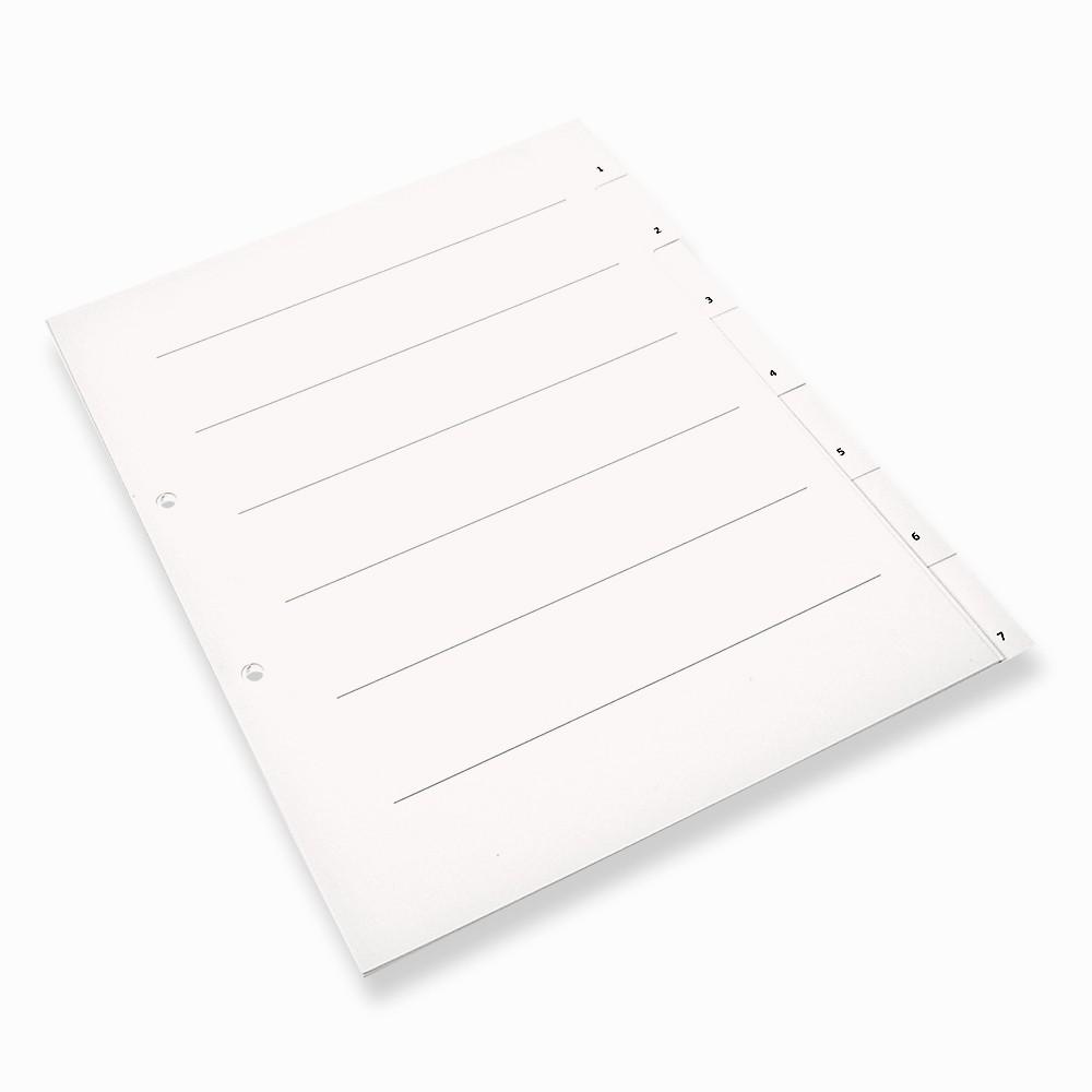 7-teiliges Register - für Makler-Objektordner (10 Stück)