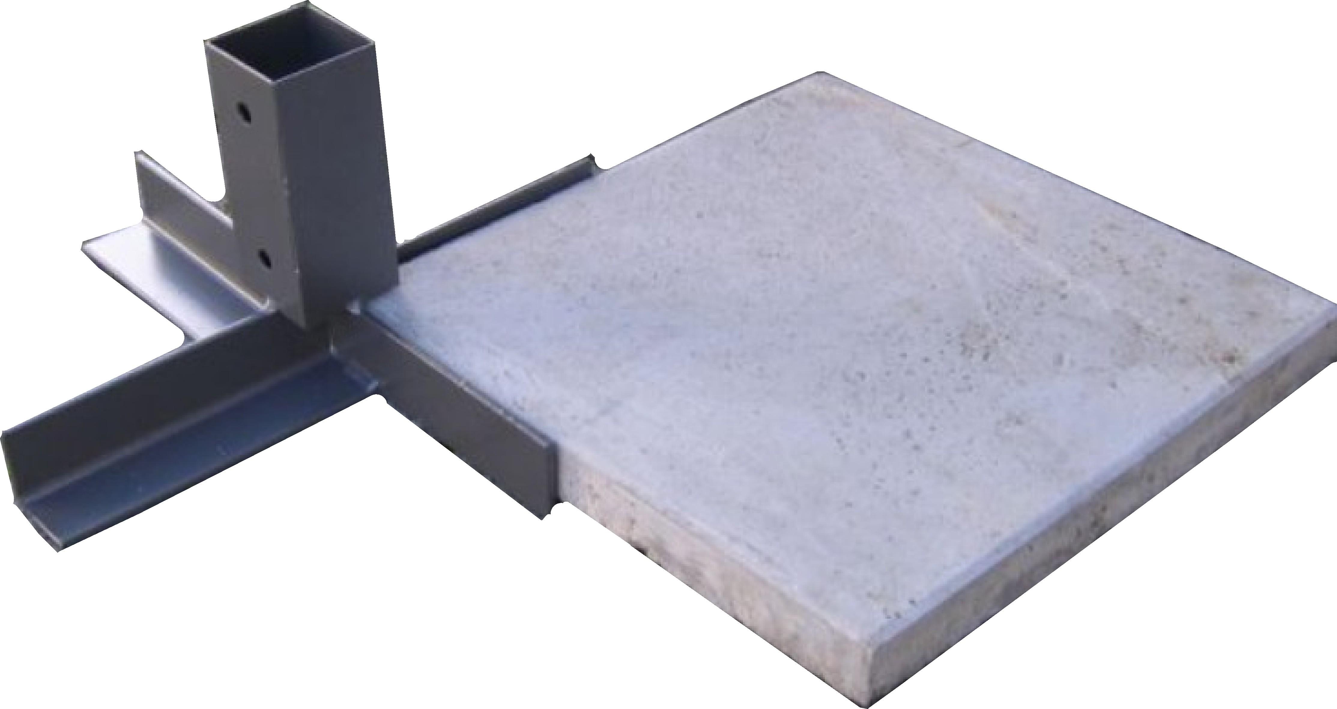 Gehwegplatten-halter für Maklergalgen